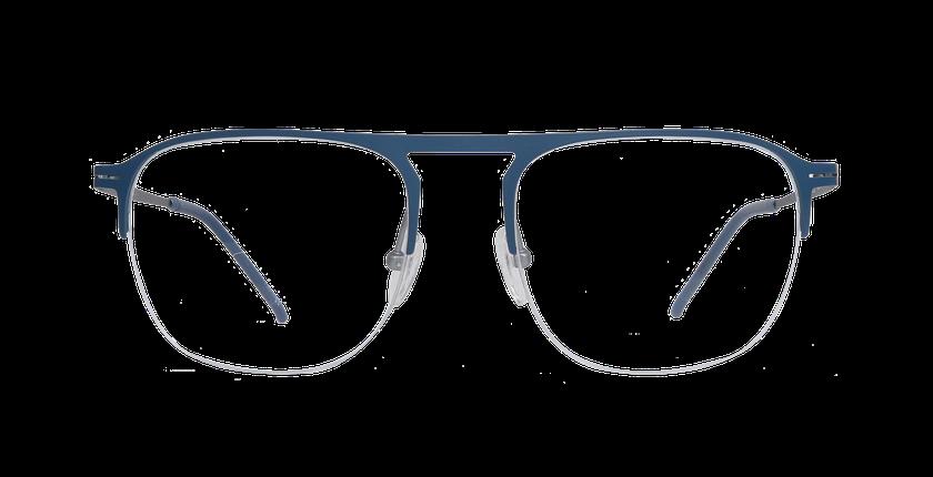 Lunettes de vue homme NEON bleu/argenté - Vue de face