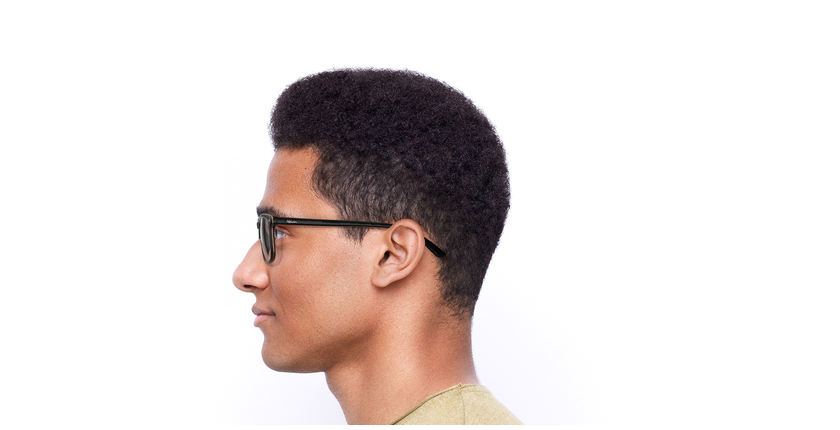 Óculos graduados homem GWENDAL BK (TCHIN-TCHIN +1€) preto/cinzento - Vista lateral