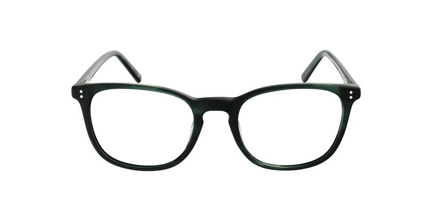 Óculos graduados homem MAXENCE GR (TCHIN-TCHIN +1€) verde - Vista de frente