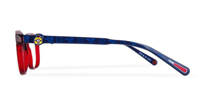 Óculos graduados criança STUART C1 vermelho - Vista lateral