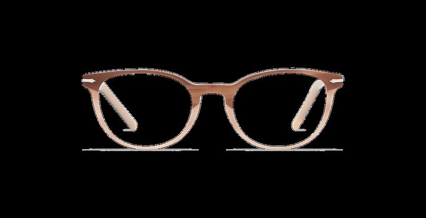 Lunettes de vue femme NANTUA marron - Vue de face