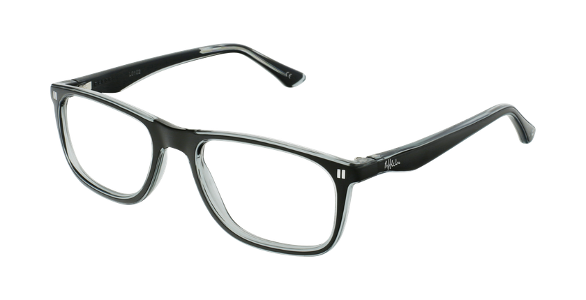 Óculos graduados criança REFORM TEENAGER (J3BKGY) preto/cinzento - vue de 3/4
