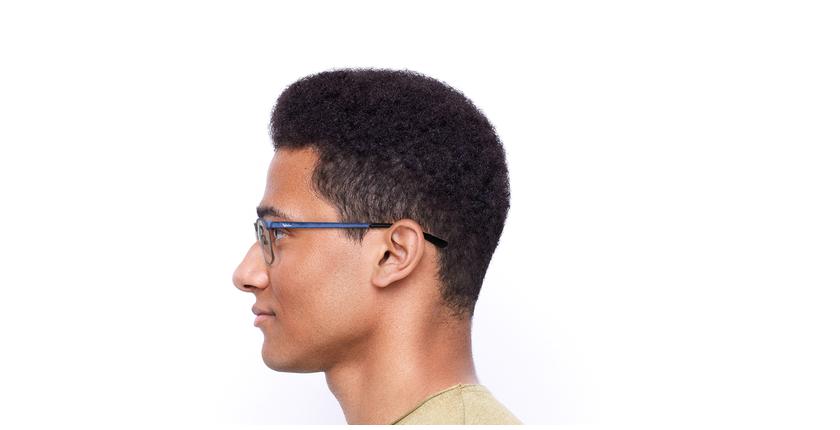 Óculos graduados homem Guido bl (Tchin-Tchin +1€) azul/prateado - Vista lateral