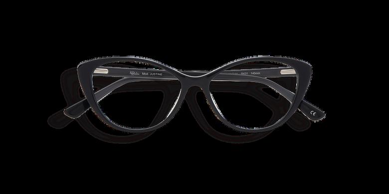 Óculos graduados senhora JUSTINE - PRETO (Tchin-Tchin +1€) preto
