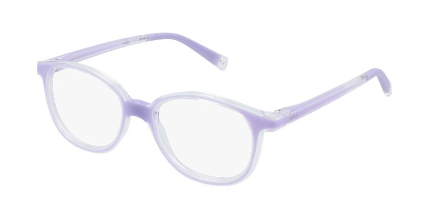 Óculos graduados criança RFOM1 PU REFORM violeta - vue de 3/4