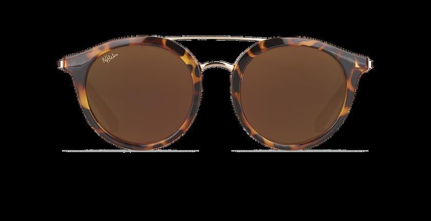 7cb3a842b11b2 ... Óculos de sol senhora ITABATA tartaruga  dourado - Vista de frente ...