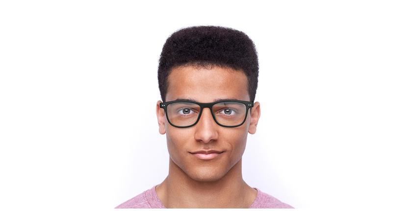 Óculos graduados homem MAGIC 46 BLUEBLOCK - BLOQUEIO LUZ AZUL preto - Vista de frente