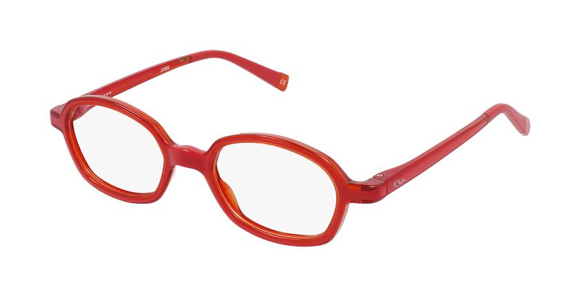 Óculos graduados criança RFOM2 RD REFORM vermelho/laranja - vue de 3/4