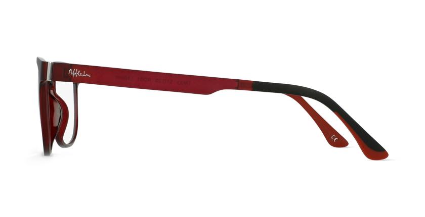 Lunettes de vue homme MAGIC 33 BLUEBLOCK rouge - Vue de côté