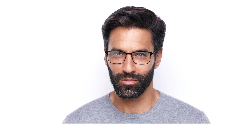 Óculos graduados homem CORENTIN (Tchin-Tchin +1€) preto/cinzento - Vista de frente