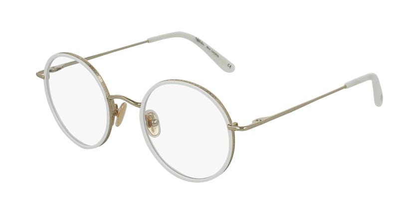 Óculos graduados CHOPIN WH dourado/branco - vue de 3/4