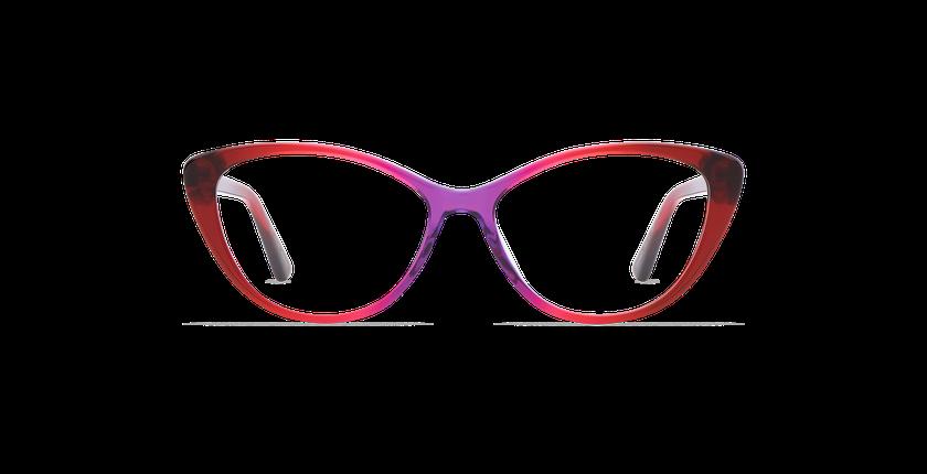 Óculos graduados senhora JUSTINE (Tchin-Tchin +1€) vermelho - Vista de frente