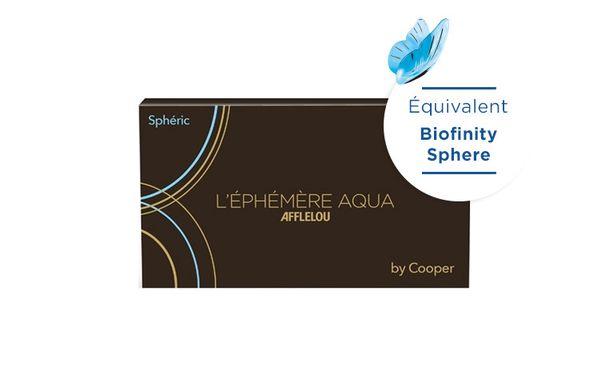 Lentilles de contact Ephémère Aqua Mensuelle Sphere 6L - Vue de face