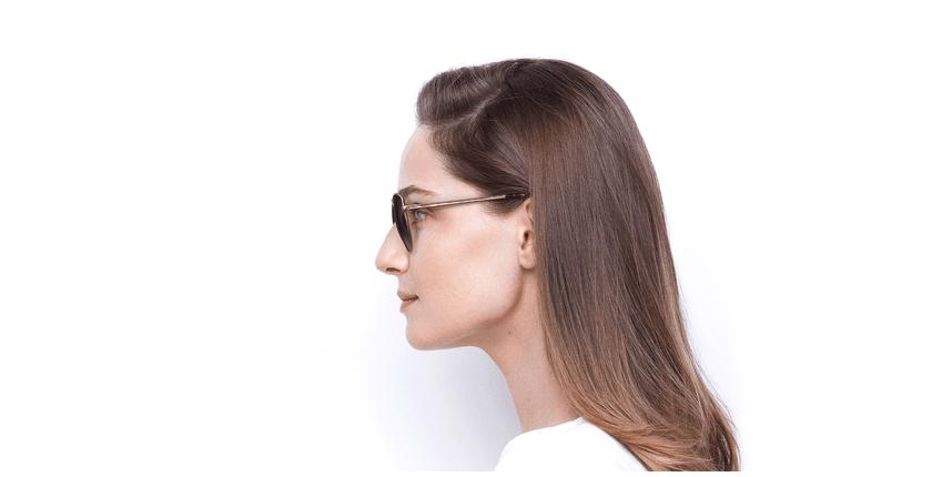 Óculos de sol senhora TEYA GD dourado - Vista lateral