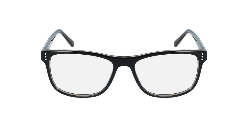 Óculos graduados homem HECTOR BK (TCHIN-tCHIN +1€) preto/cinzento - Vista de frente