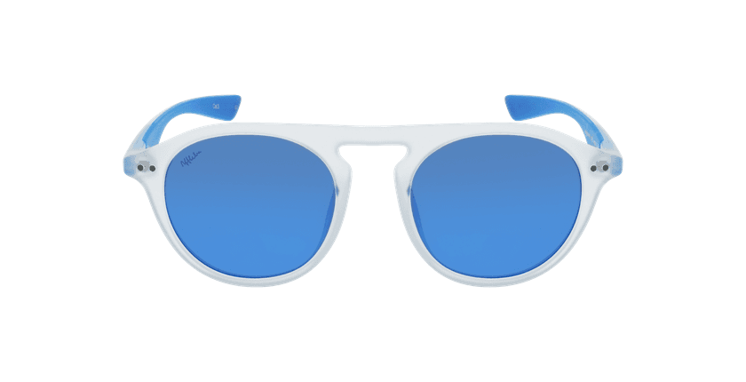 Óculos de sol BORNEO POLARIZED CRBL branco/azul - Vista de frente