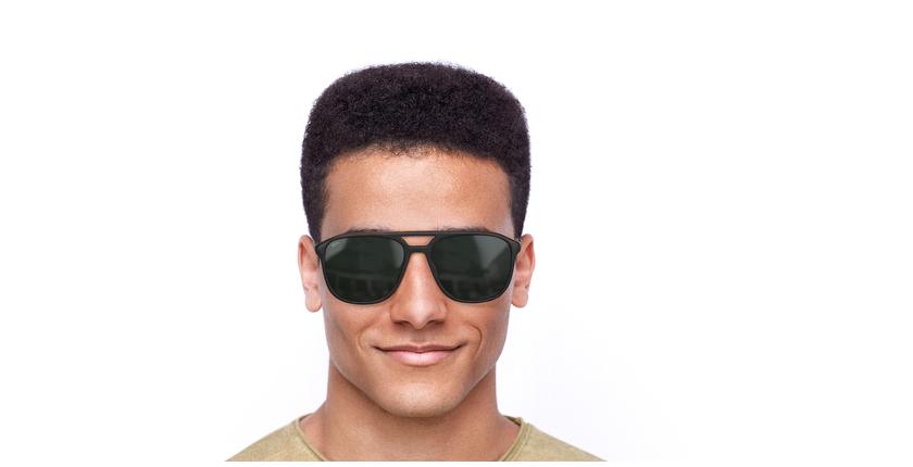 Óculos de sol homem RICK BR castanho - Vista de frente