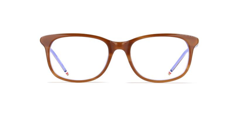 Lunettes de vue femme MARJOLAINE marron/violet - Vue de face