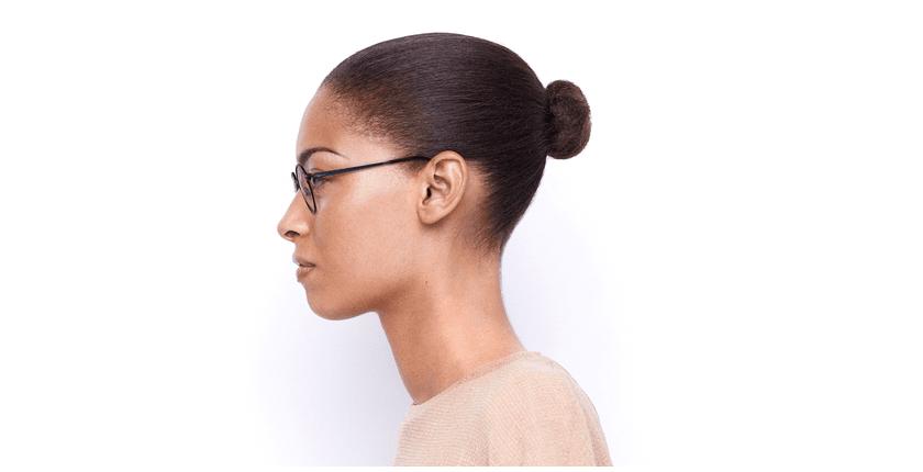 Lunettes de vue femme VENUS bleu/noir - Vue de côté