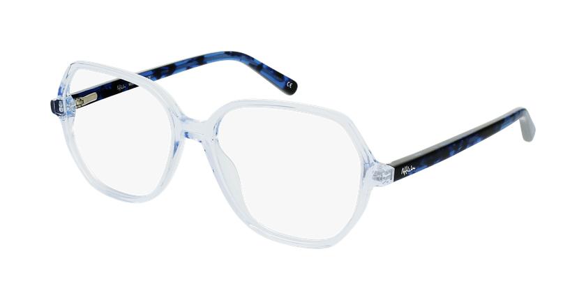 Óculos graduados senhora CONSTANCE BL (TCHIN-TCHIN +1€) azul - vue de 3/4
