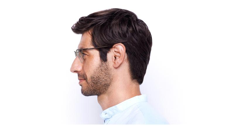Óculos graduados homem MAGIC 51 BLUEBLOCK - BLOQUEIO LUZ AZUL vermelho/prateado - Vista lateral