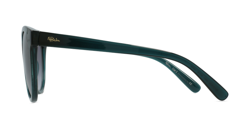 Óculos de sol senhora GANDIA GR cristal/verde - Vista lateral