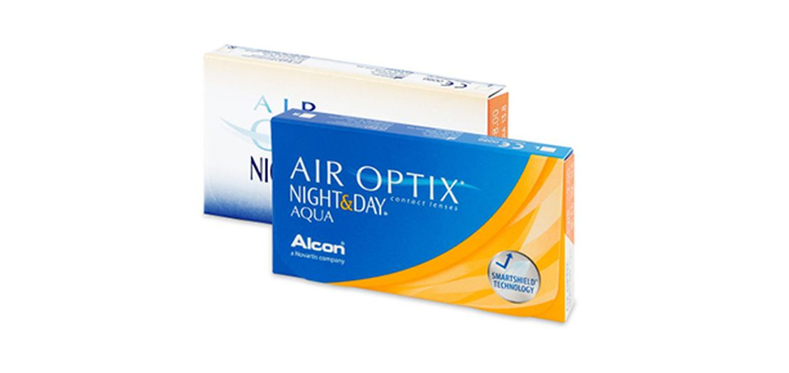 Lentilles de contact Air Optix Aqua Night Day 6,4 6L