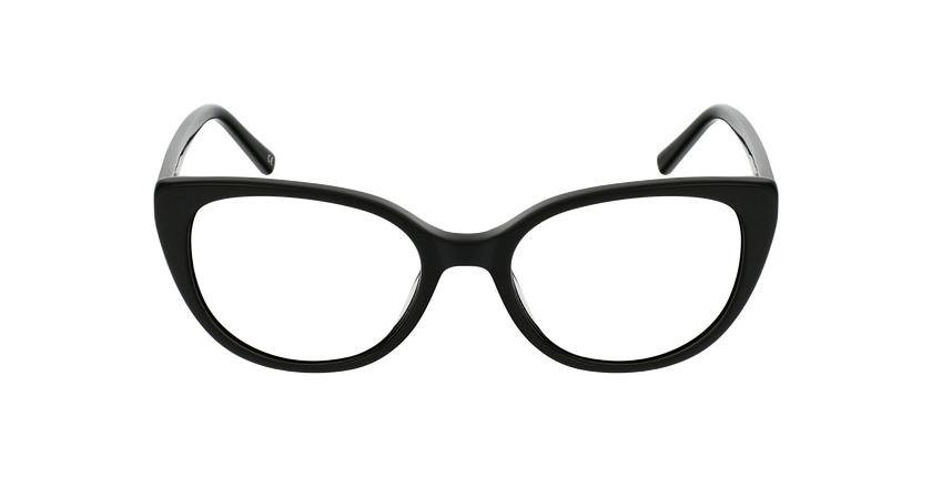 Lunettes de vue femme BERTILLE noir - Vue de face