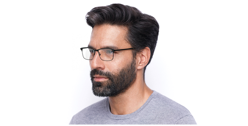 Óculos graduados homem CORENTIN (Tchin-Tchin +1€) preto/cinzento - vue de 3/4