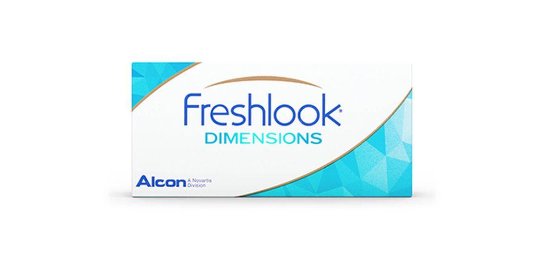 Lentilles de contact FreshLook Dimensions Aqua 2L (sans correction)