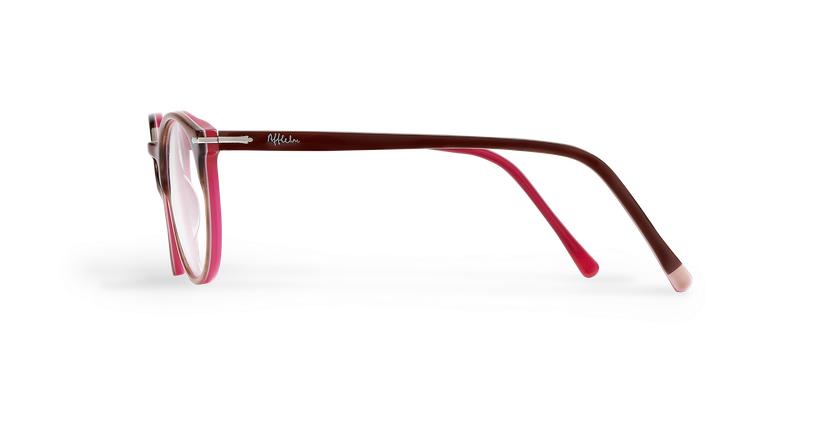 Óculos graduados senhora OYOANNAX castanho/rosa - Vista lateral