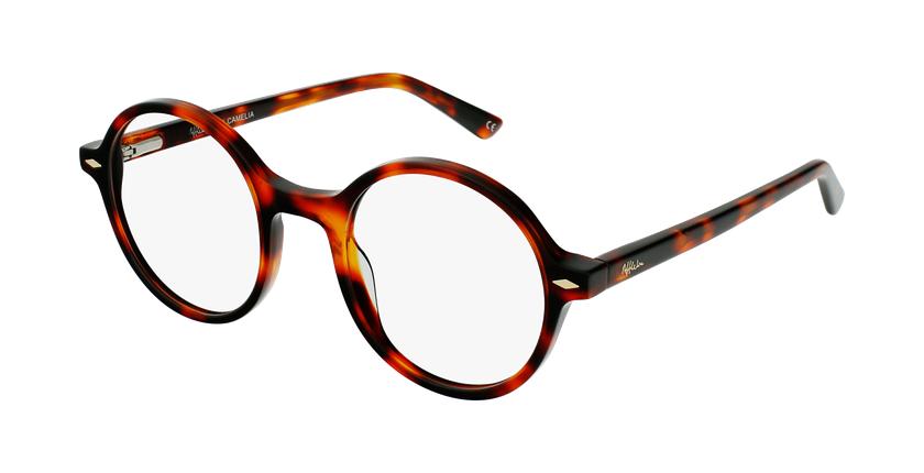 Óculos graduados CAMELIA TO01 (TCHIN-TCHIN +1€) tartaruga /castanho - vue de 3/4