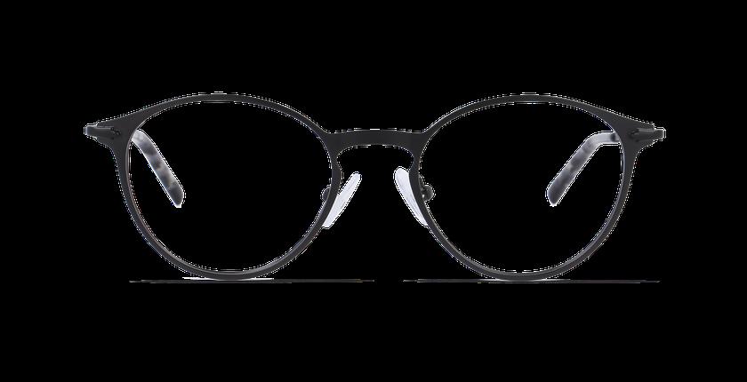 Gafas graduadas hombre DUBLIN negro - vista de frente