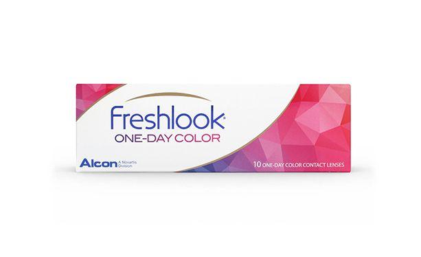 Lentilles de contact FreshLook 1 Day Green 10L - Vue de face