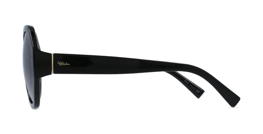 Lunettes de soleil femme AURORA noir - Vue de côté