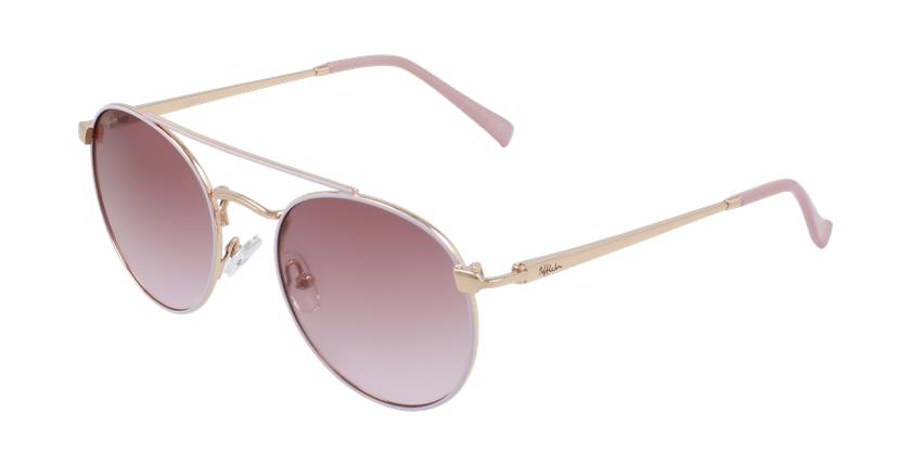 Óculos de sol criança SANTIAGO PK rosa/dourado - vue de 3/4