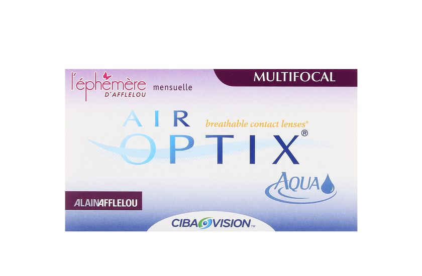 Lentilles de contact Air Optix Aqua Multifocal LOW - vue de face
