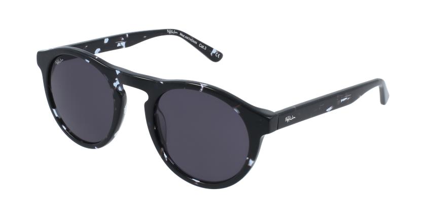 Óculos de sol homem ANTHONIN BK preto - vue de 3/4