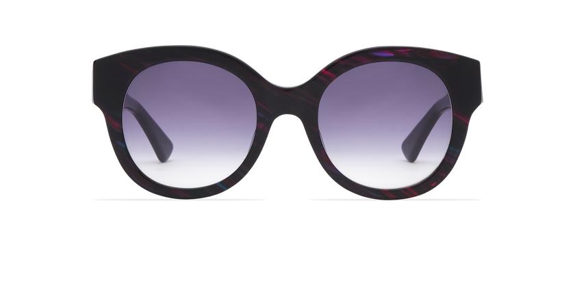 Lunettes de soleil femme CINDY violet - Vue de face