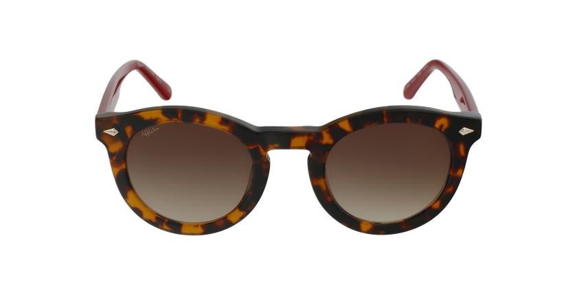 Óculos de sol senhora ANNE TORD tartaruga /vermelho - Vista de frente