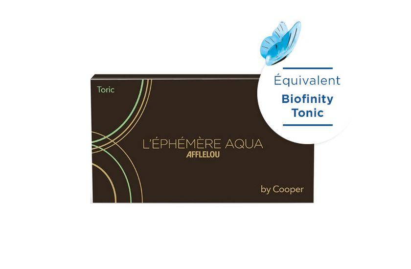 Lentilles de contact Ephémère Aqua Mensuelle Toric 6L - vue de face