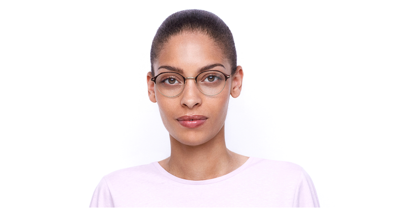 Lunettes de vue femme OAF20524 rouge/rose - Vue de face