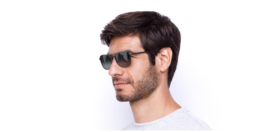 Gafas de sol hombre BELEM gris - vue de 3/4