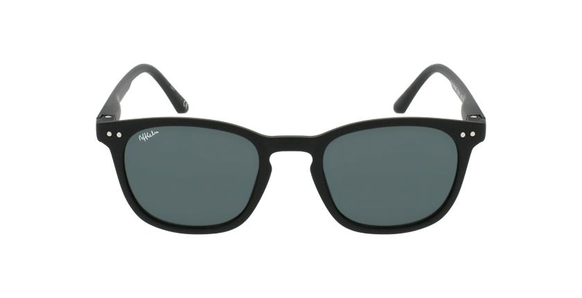 Óculos de sol criança VALME BK preto - Vista de frente