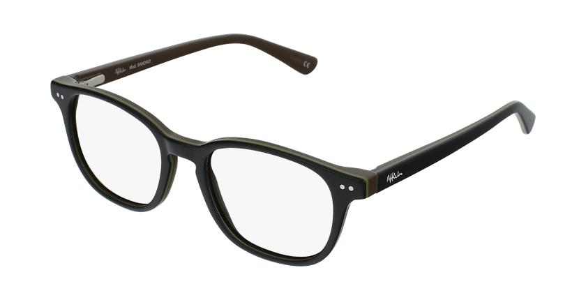 Óculos graduados criança SANDRO BK  (TCHIN-TCHIN +1€) preto/verde - vue de 3/4