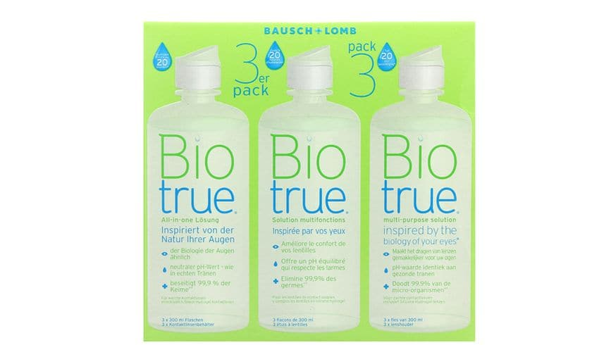Biotrue 3x300ml - vue de face