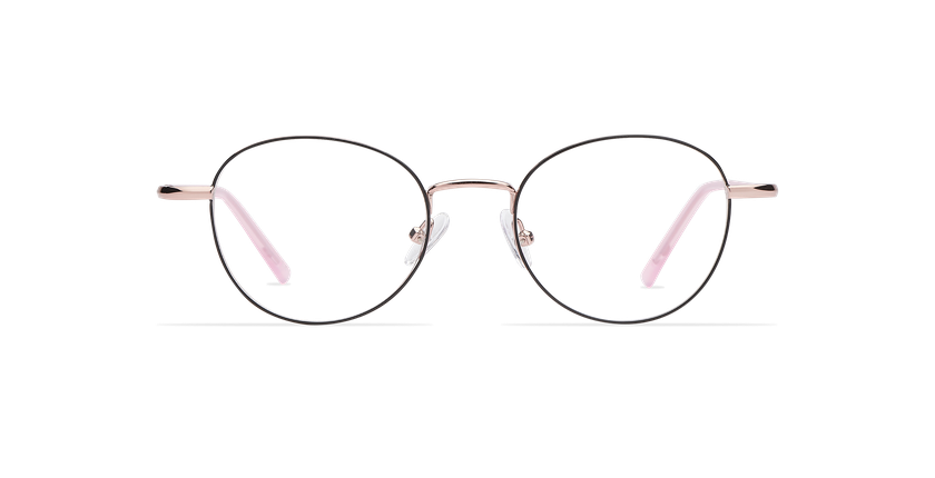 Óculos graduados senhora NELIA BK (TCHIN-TCHIN +1€) preto/rosa - Vista de frente