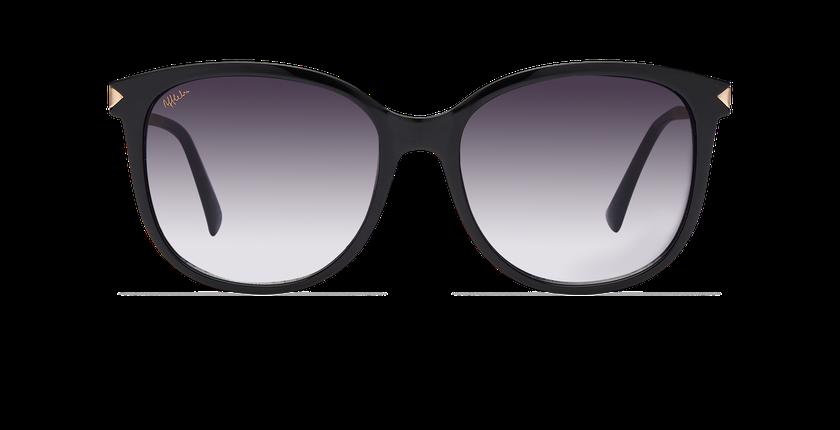 78a28db2a68e5 ... Óculos de sol senhora UNCIA preto - Vista de frente ...