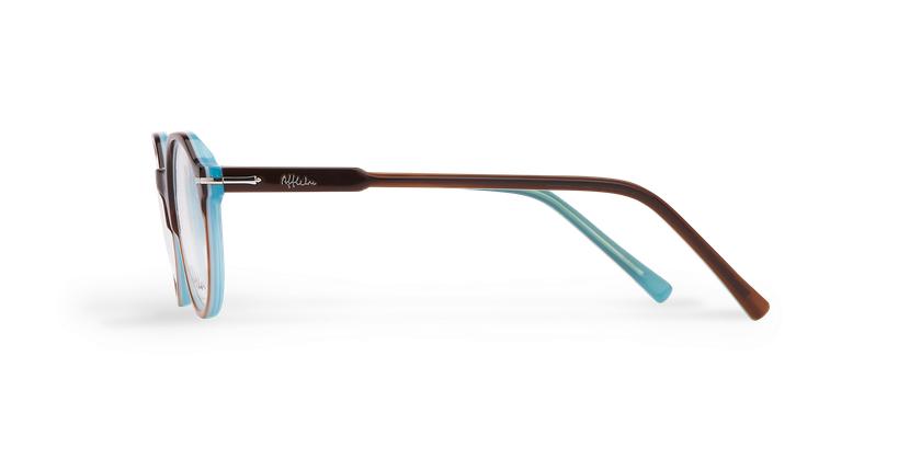 Óculos graduados homem MOREZ tartaruga /azul - Vista lateral