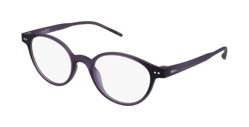 Lunettes de vue femme MAGIC 49 BLUEBLOCK violet - vue de 3/4